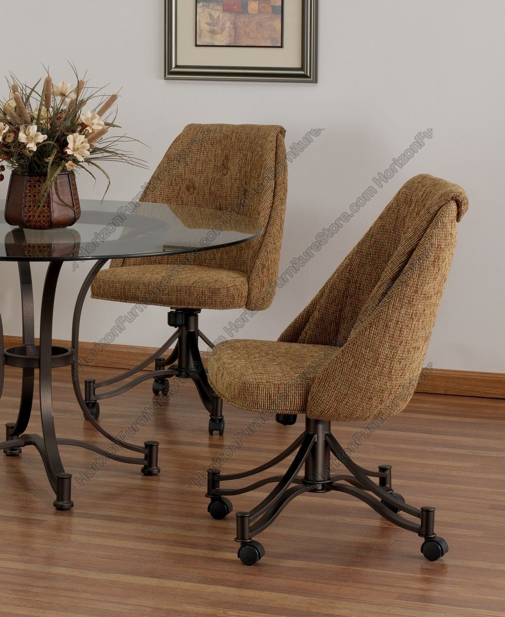 Tempo Industries Denver Swivel Tilt Dining Chair With Casters
