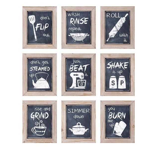 Set Of 9 Farmhouse Kitchen Wall Art | Discover More Best Ideas About Framed  Prints And Chalkboards