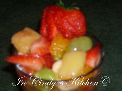 In Cindy's Kitchen: Orange-Pineapple Fruit Salad: Pink Ribbon Recipe