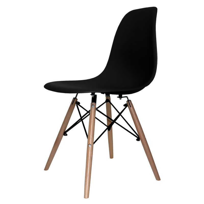 Silla Tower Wood, negra | 33,60 €