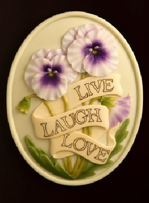 Live, Laugh, Love Welcome Plaque