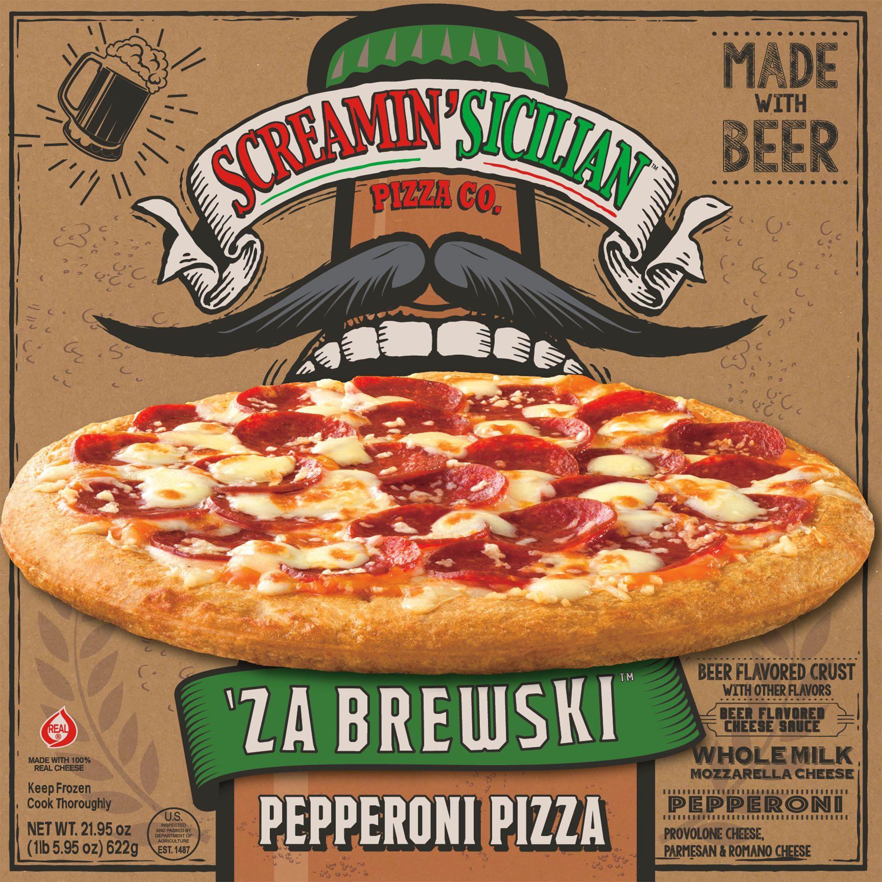 Screamin Sicilian Za Brewski Pepperoni Pizza Frozen Pizza Pizza Flavors Pepperoni Pizza