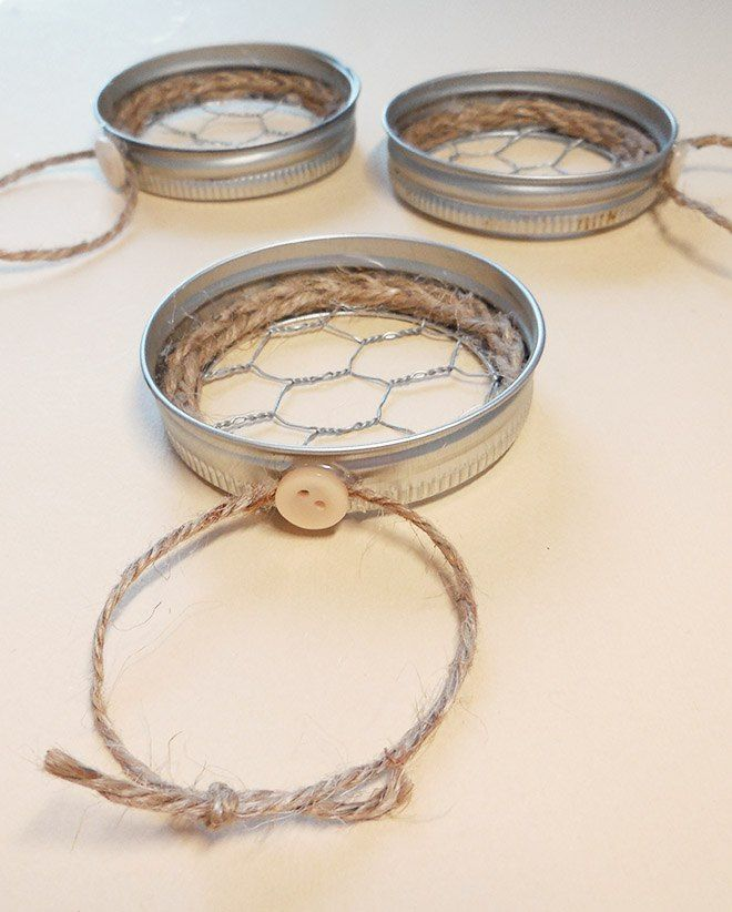 Mason Jar Lid u0026 Chicken Wire Christmas