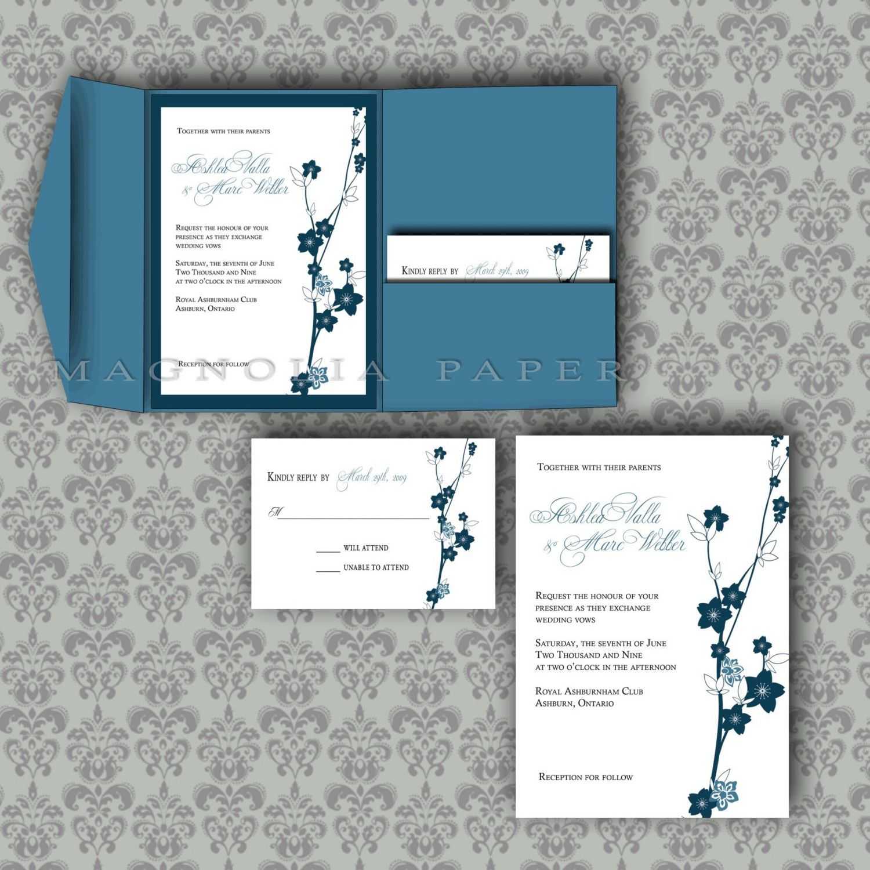 Homemade Wedding Invitation Template: Invitations