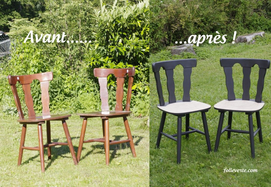 Relooker des chaises en bois chaise bistrot repeindre - Poncer une chaise ...