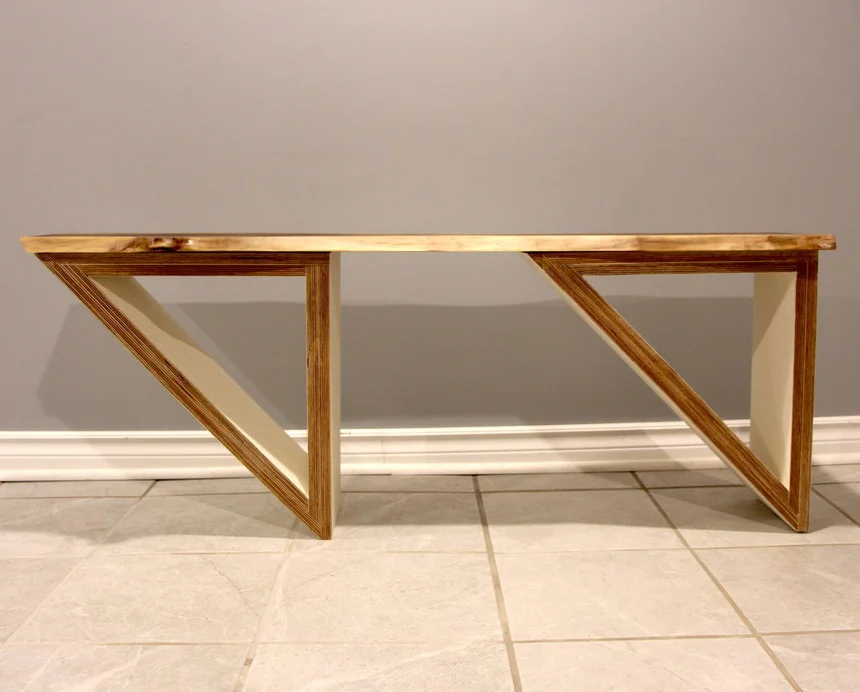 Best Live Edge And Plywood Coffee Table In 2020 Plywood 400 x 300
