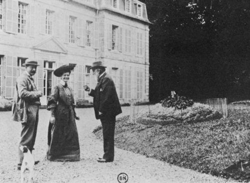 Degas: Degas, Monsieur and Madame Jacques Fourcy in the castle park Ménil-Hubert