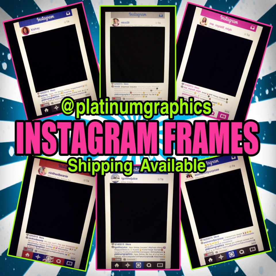 instagram frames selfies photo props party props instagram signs selfie boards unique frames fun props customized instagram props yes