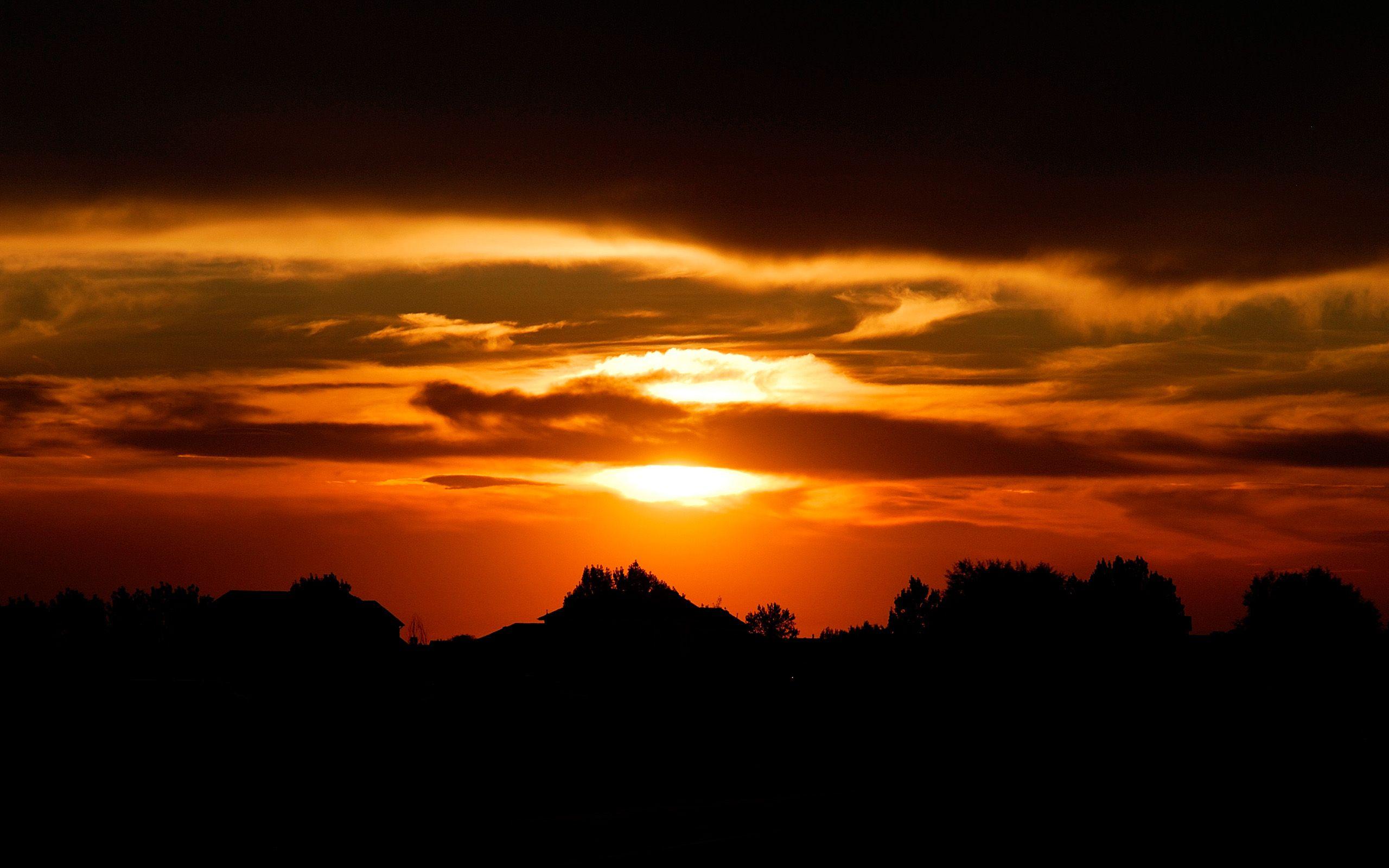 Sunset Silhouette Wallpaper Matahari Terbenam Wallpaper Yang Indah Gambar Awan