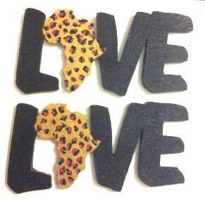 Love Africa Wood Earrings by MoonRaeJewelry on Etsy, $10.00