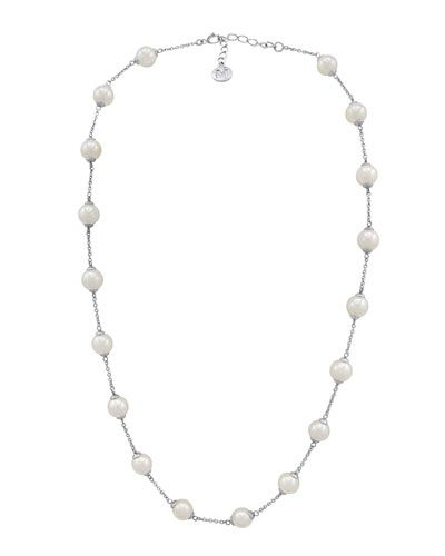 Majorica Long Simulated Pearl Station Necklace pvPdvQ0