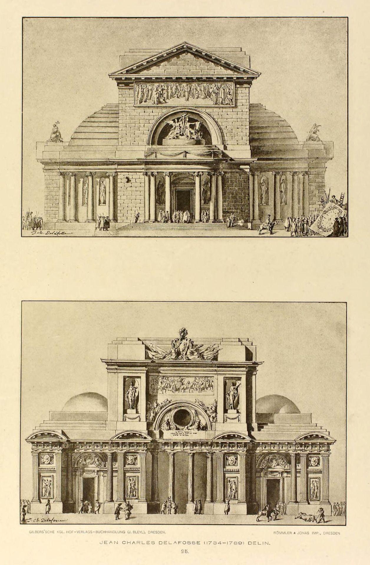 Temple designs jean charles delafosse architecture drawings architektur bau skizzen - Beruhmte architektur ...