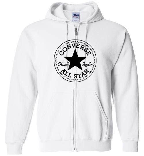 3a78598802b9 awesome Converse All Star Logo Unisex zip hoodie