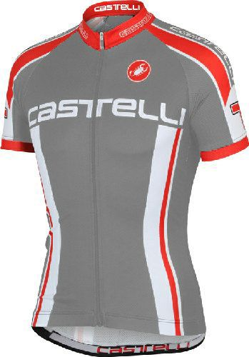00861a5f0 Castelli Cycling Jersey - Aprile Anthracite Castelli Aprile Cycling Jersey  Gray - Performance Cycling Apparel - Classic Cycling