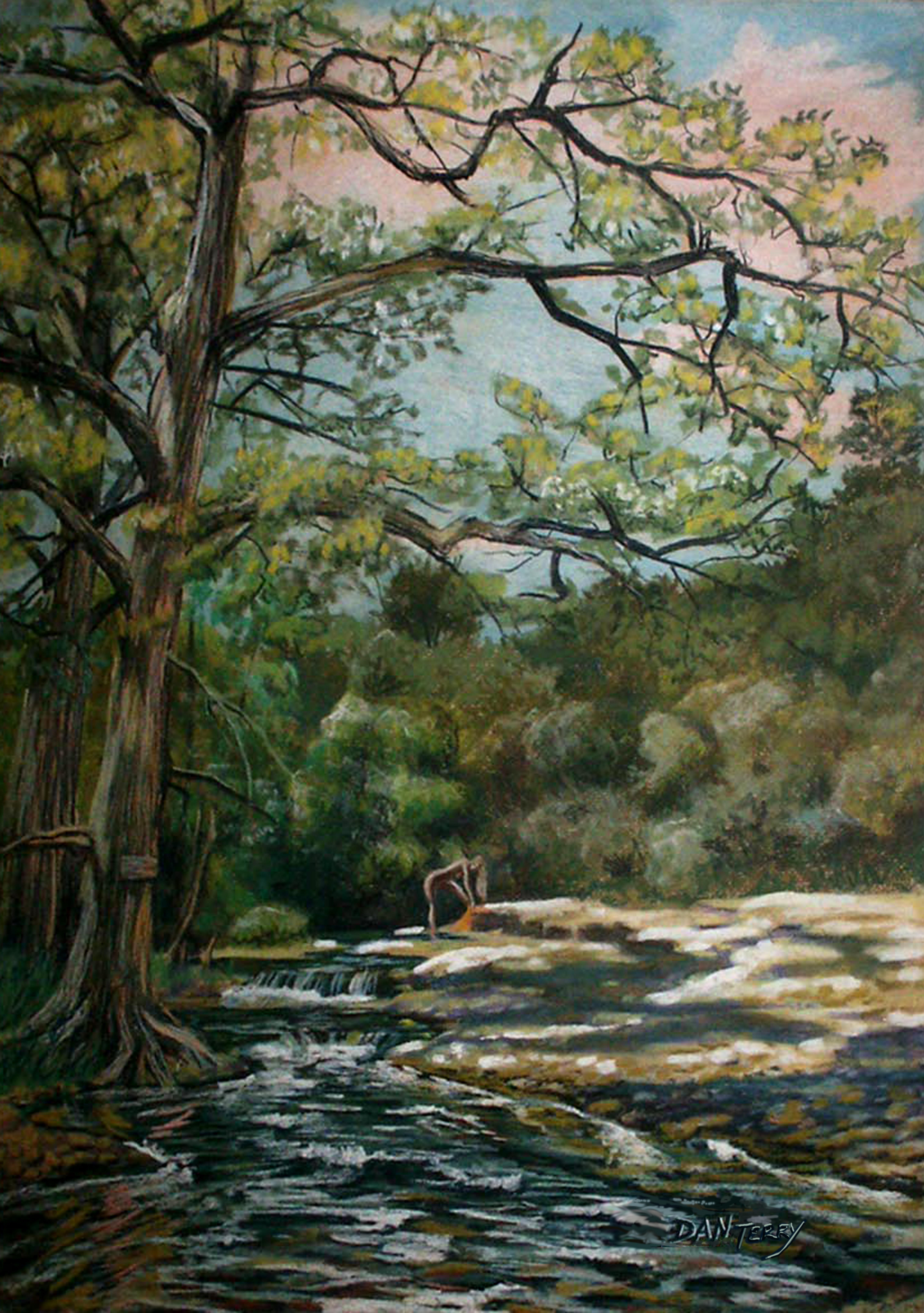 Onion creek texas landscape pastel on rag board prints available in a range of sizes and prices at