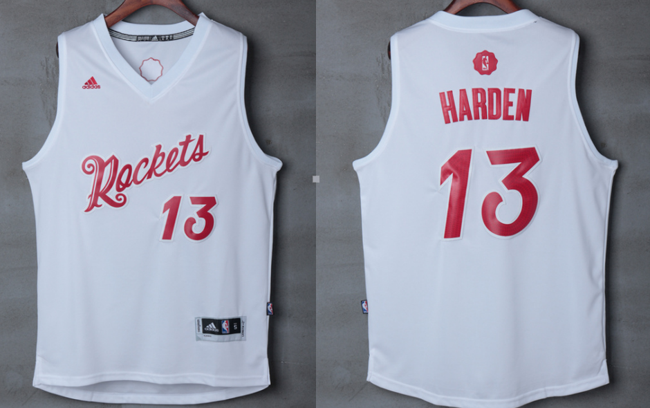 Indiana Pacers 13 Harden 2016 Rockets Christmas jersey | New NBA ...