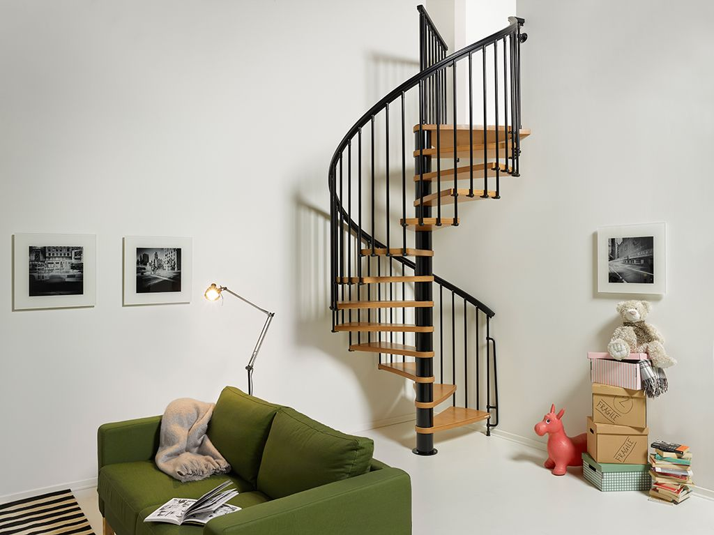 "We're offering this spiral staircase to take you to a Mighty Small Homes loft. Here are the details. Nice 1 - 51"" Spiral - Interior - Black or Satin Gray Need Prices from Cyndi (sold on Lowes for example) Windows - Moss - Mosssupply.com Offer - Choice and Premium Example 3300-3400-single-hung Not Builder Grade"