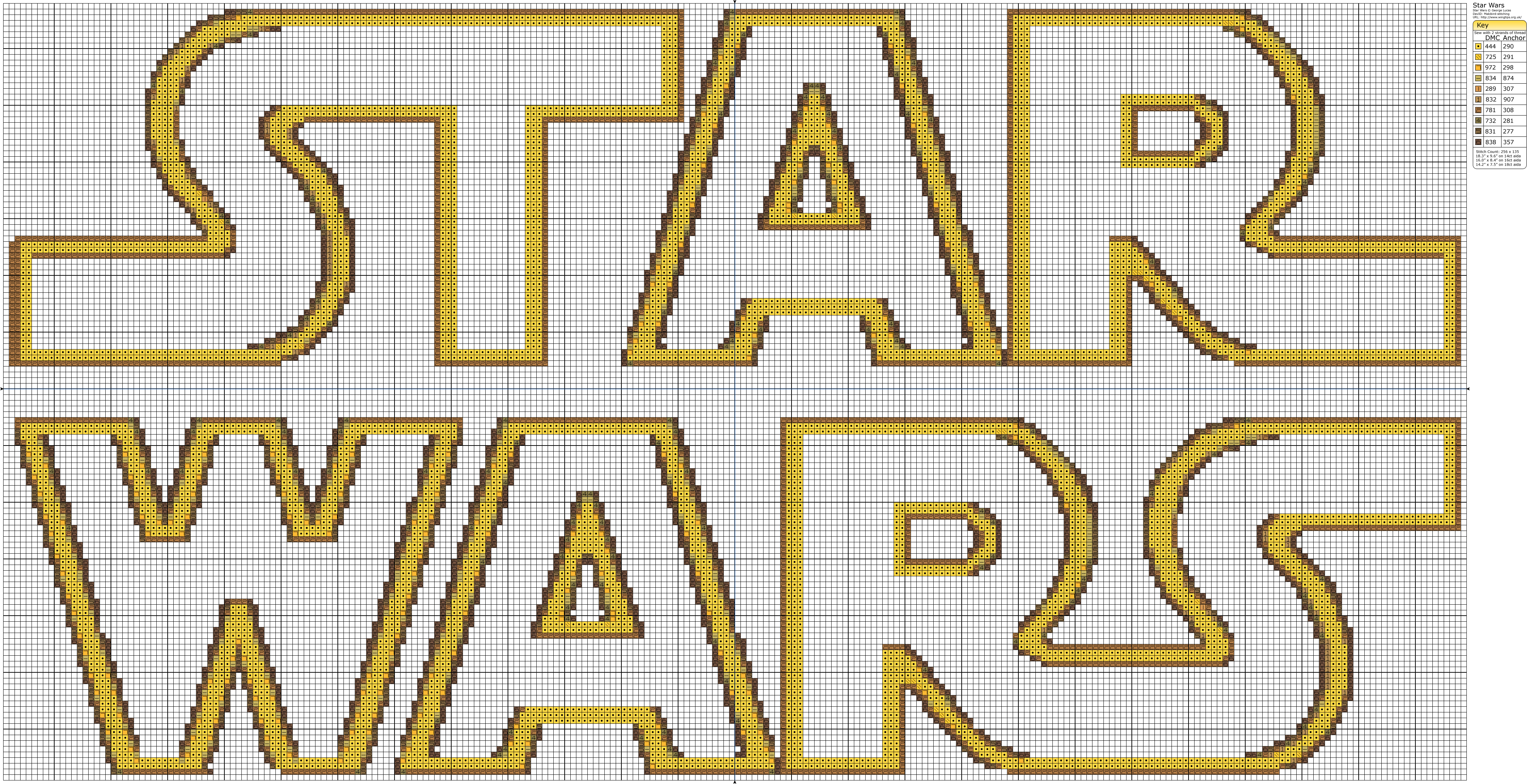 free Star Wars cross stitch pattern. also chewbacca and han solo on ...