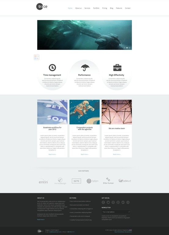 trace - WordPress Responsive Theme #wordpress #theme #website ...