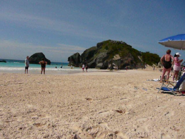 Pink sand of Bermuda