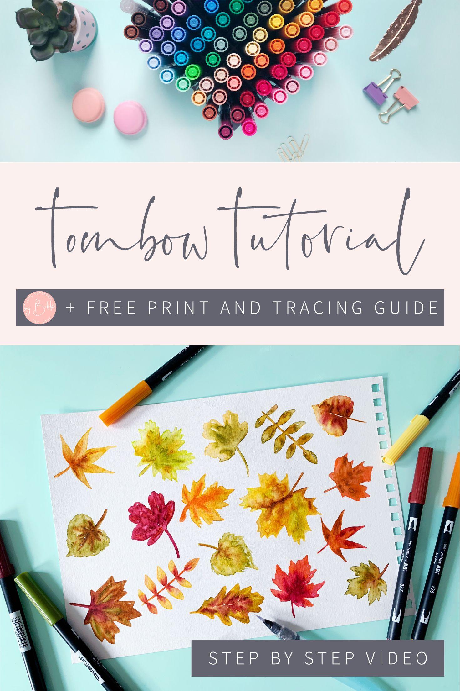 Watercolour Fall Leaves Tutorial Pen Watercolor Watercolor