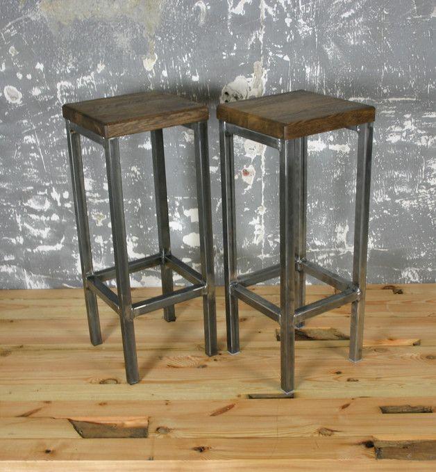 vintage st hle loft barhocker industriedesign stuhl bar tresen ein designerst ck von. Black Bedroom Furniture Sets. Home Design Ideas