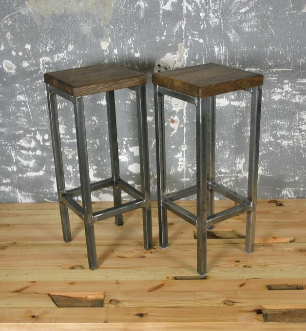 Vintage st hle loft barhocker industriedesign stuhl bar for Design stuhl freischwinger piet 30
