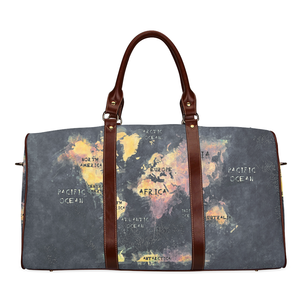 World map oceans and continents waterproof travel bagsmall model world map oceans and continents waterproof travel bagsmall model 1639 gumiabroncs Gallery