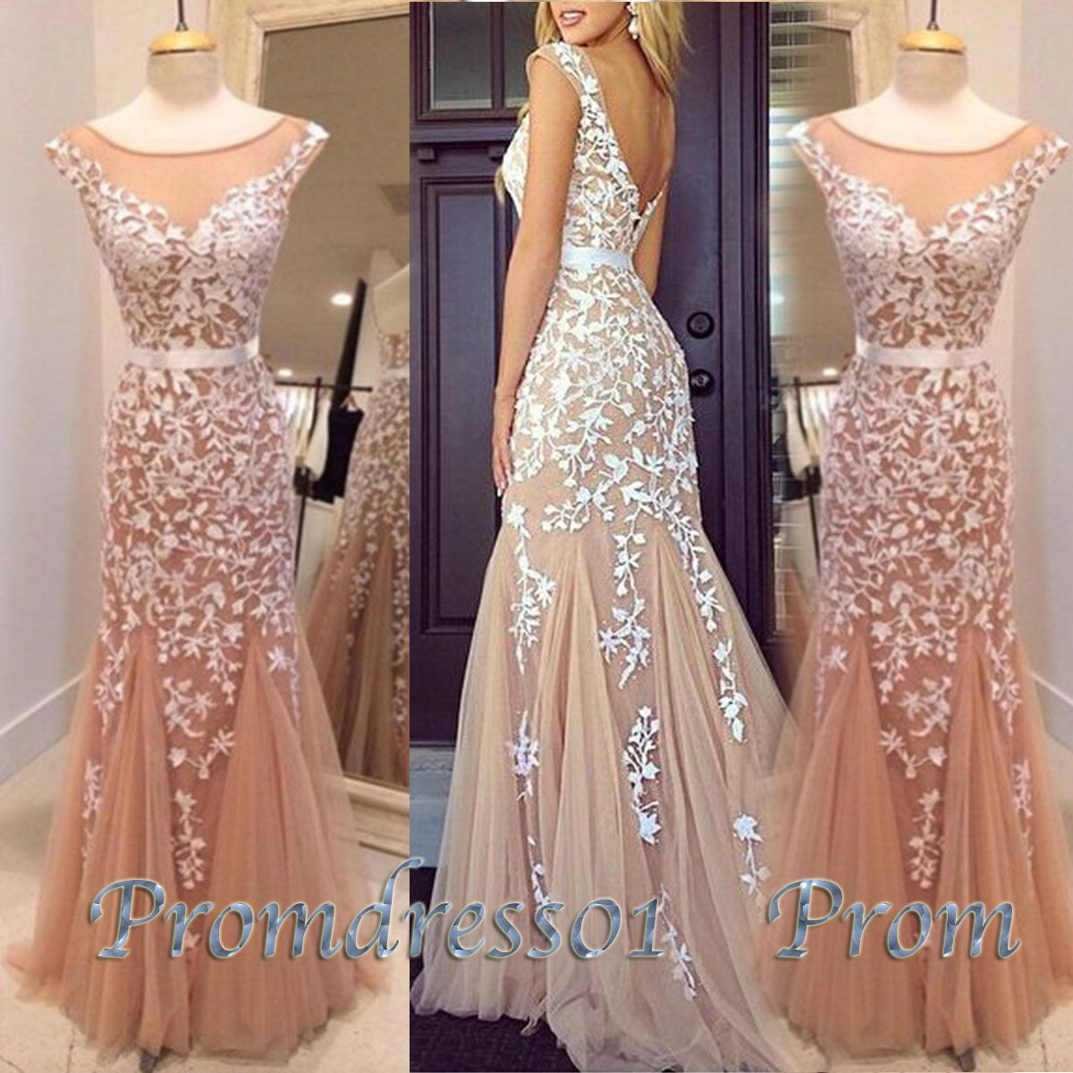 2015 lace chiffon prom dress | Prom | Pinterest | Prom dresses ...