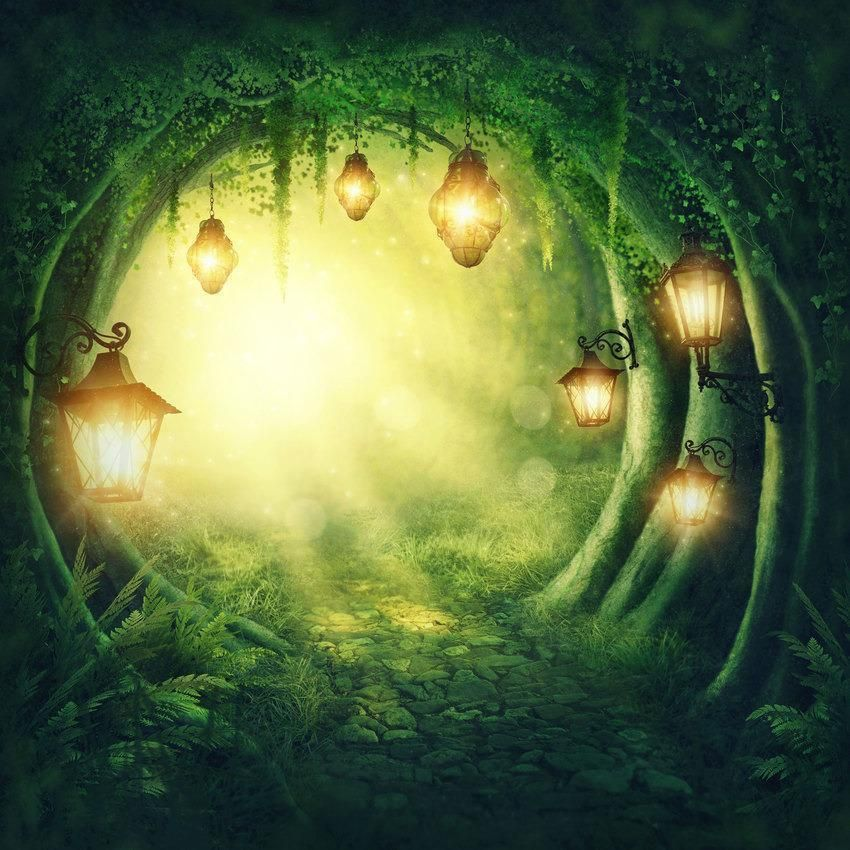 Fairytale Lights In The Tree Hole Backdrop for Photography Background