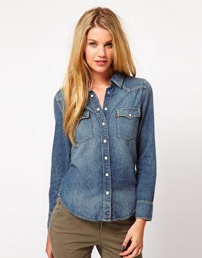 4d63300cec Levi s Classic Western Denim Shirt Levis