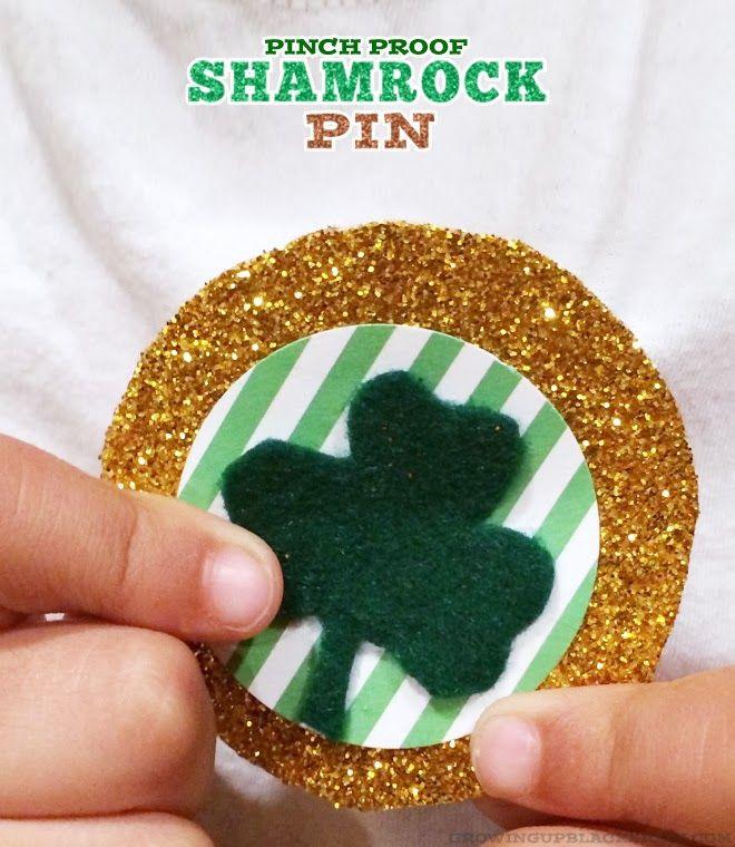 DIY: Pinch Proof Shamrock Pin | GUBlife: Growing Up Blackxican™
