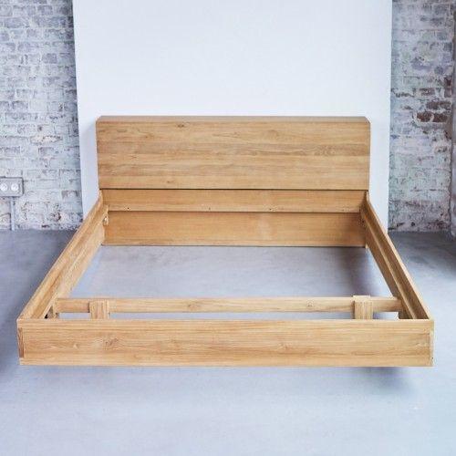 Bett aus Teak 160x200 u2013 Verkauf von Betten aus Massivteak Flat bei - schlafzimmer bett 160x200