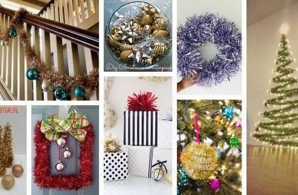 creative ways to decorate with tinsel spruce up your home for the holidays christmaslightsindoors also rh pinterest