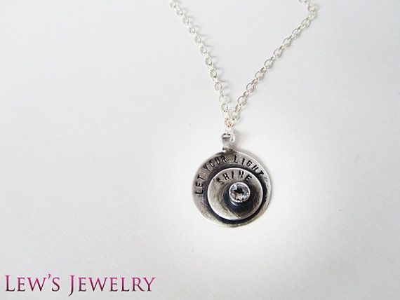 Let you light SHINE necklace in Silver and Topaz by lewsjewelry, $68.00