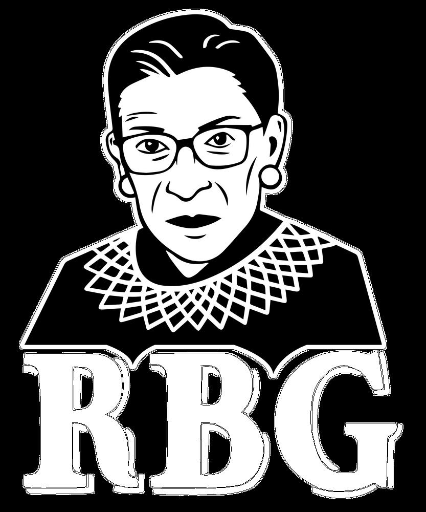 Nortirous Rbg Ruth Bader Ginsburg Supreme Court Justice Women Sticker By Jmg Outdoors White 3 X3 In 2020 Ruth Bader Ginsburg Supreme Court Justices Supreme Court