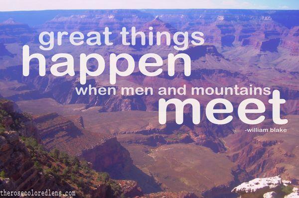 great things happen.