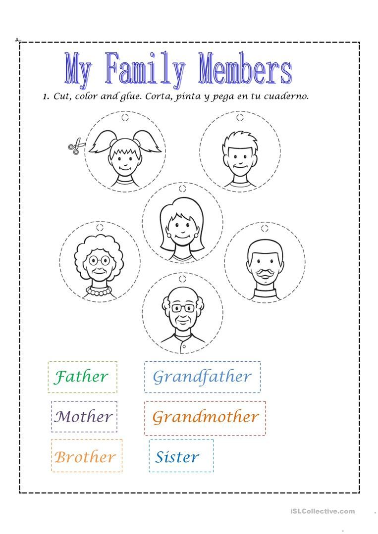 Family members worksheet - Free ESL printable worksheets ...