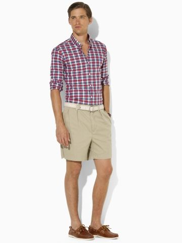 00f084399e Andrew Pleated Short - Polo Ralph Lauren Shorts - RalphLauren.com ...