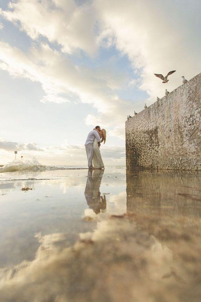 13 Beach-Inspired Wedding + Engagement Photos via Brit + Co
