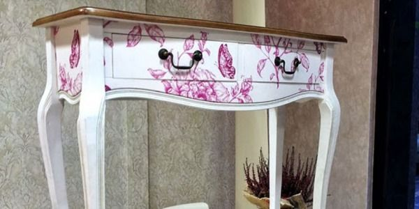 C mo restaurar un mueble con papel pintado ideas para - Como decorar un mueble con papel pintado ...
