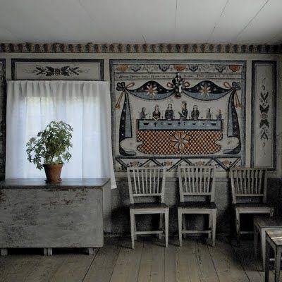 Ett Gammalt Timmerhus Swedish Decor Swedish Interior Design Swedish Interiors