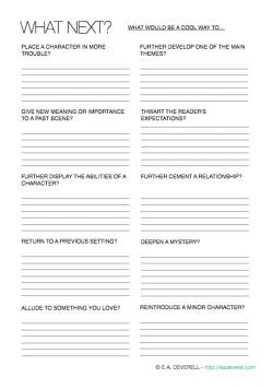 Use This Writing Worksheet To Repurpose Elements Youve Already Introduced And Decide What Happens Next