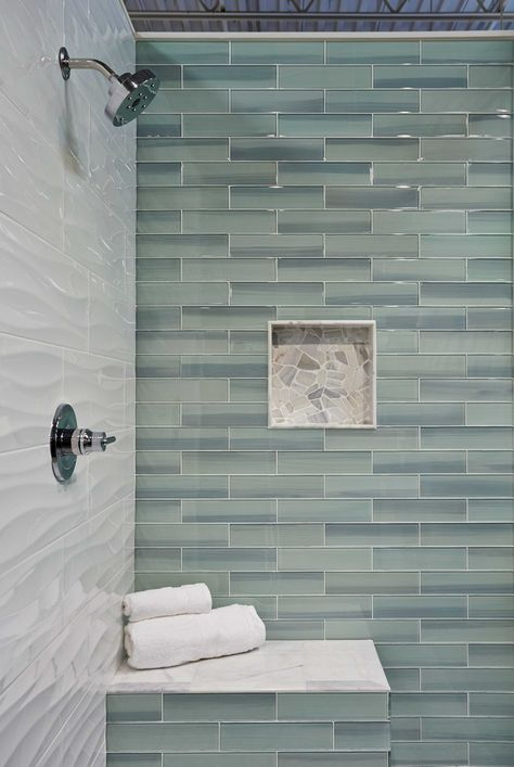 Bathroom shower wall tile - New Haven Glass Subway Tile   www