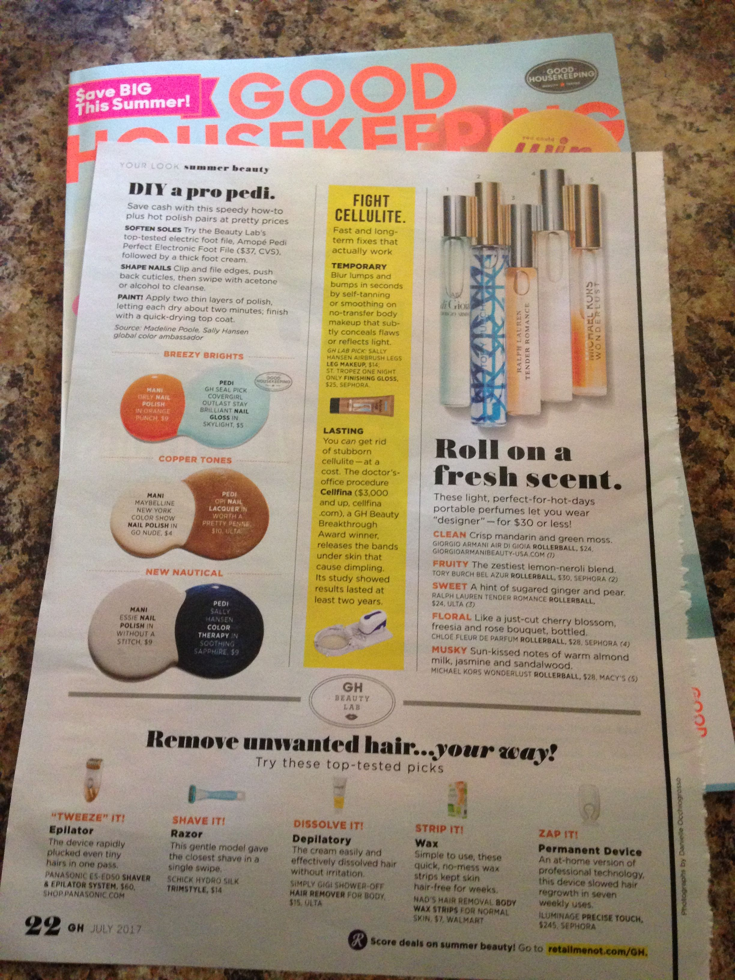 New perfume rollerballs featured in July 2017 Good Housekeeping magazine