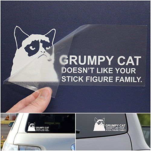 Pcs Brilliant Unique Grumpy Cat Doesnt Like Your Stick Figure - Vinyl decal cat pinterest