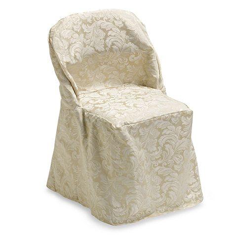 Ashbury Scroll Folding Chair Cover Folding Chair Covers Folding Chair Chair Cover