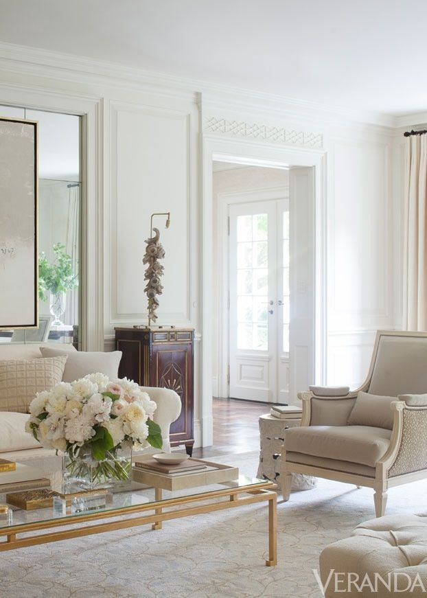 Best White And Beige Living Room I Really Like The Gold Table 640 x 480