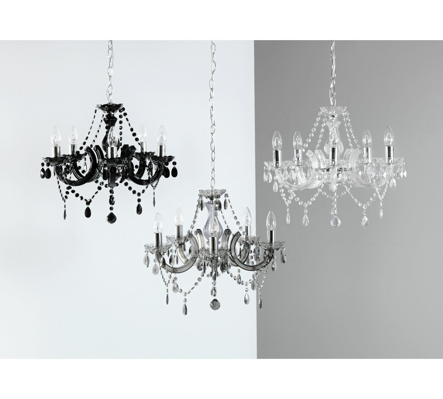 Argos Home Inspire 5 Light Chandelier Clear Ceiling