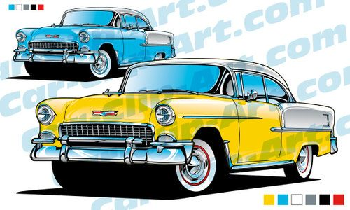 1955 Chevy Bel Air Vector Art Drawings Cars Chevy 1955 Chevy